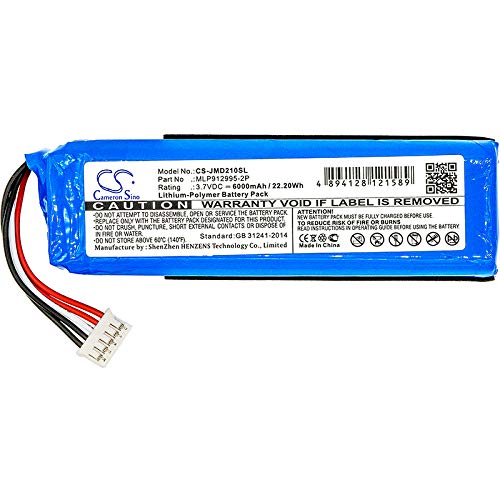 CS Akku, Li-Polymer 6000mAh passend für JBL Charge 2+, Charge 2 Plus, ersetzt JBL MLP912995-2P