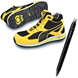 [プーマ] 安全靴 フルツイスト 27.0cm イエロー ミッド 消せるボールペン付きセット 63.202.0