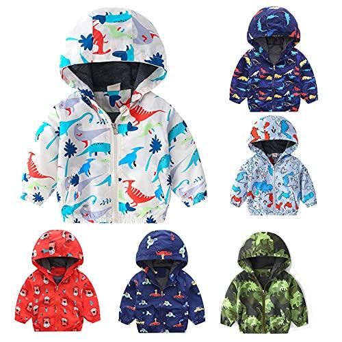 WFRAU Regenjacke Kinder Jungen Winddicht Mantel Regenmantel Jungen Mädchen wasserdichte Atmungsaktiv Kinder Mädchen Jungen Jacke Regenazug Babyjacke Regencape Regenkleidung Kapuzenjacke für Kinder