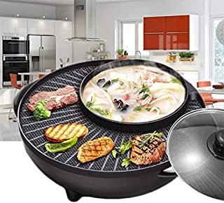 Multifunction Electric Skillet Non-Stick Stainless Steel Hot Pot Noodles Rice Cooker Steamed Egg Soup Pot Mini Heating Pan...