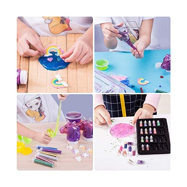 Unicorn Slime Kit for Girls - Slime for Girls, Fluffy Premade Slime with Unicorn Slime Charms, Glitter, DIY Pink, Toys… 6