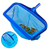 WOLLGORD Pool Skimmer Net, Heavy Duty Leaf Rake Cleaning Tool, Fine Mesh Deep Bag Catcher with Strong Plastic Frame,Fits Most Standard Pole