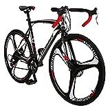 Eurobike Road Bike XC550 Mechanical Disc Brake Bike 54 cm Frame 21 Speed 700C Mag Wheel Gears Road Bicycle