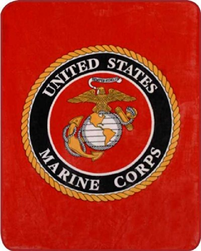 Queen Size Super Soft Marine Corps United States Military Fleece Plush Blanket