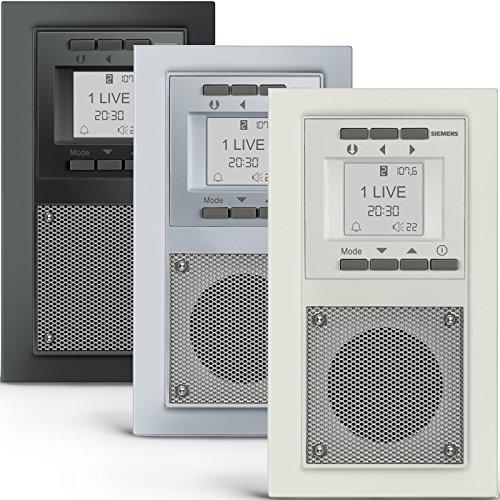 SIEMENS Steckdosen RADIO in Aluminiummetallic...