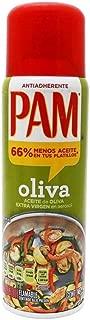 (3 Pack) PAM Aceite de Oliva Comestible en Aerosol ; Oliva Extra Virgen, Antiadherente 141 g (Presentación puede variar)