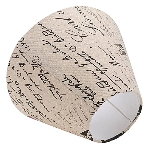 WNAVX Lámpara de Moda de Tela 1pc Mesa de Moda Lámpara de pie Lámpara de pie Cubierta Cubierta LUZ CHADE IDORY (Color : Ivory, Size : 35x19cm)