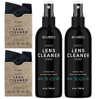 Eyeglass Cleaner Spray 8oz  4oz x 2  - Complete Glasses Cleaning Kit - Glasses Cleaner Spray with Lens Cleaner Cloth - Screen & Eye Glasses Lens Cleaner Kit