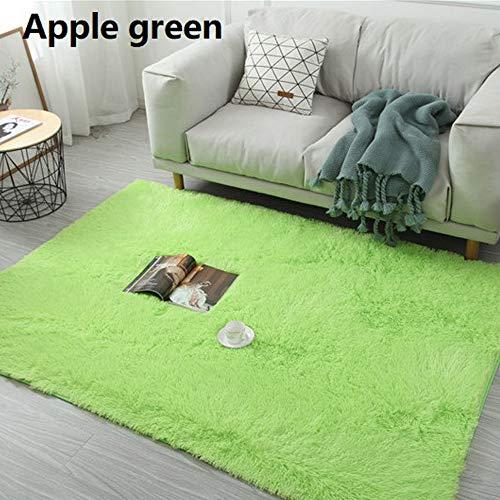 WMNU Home Decor Hochflor Moderner Teppich Wohnzimmer Schlafzimmer Teppiche in 4 16 verschiedenen Größen Frucht grün80x200cm