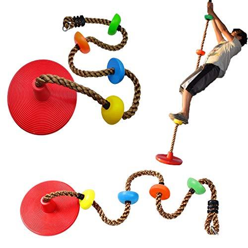 IFOYO - Cuerda de escalada para niños, 2 m, cuerda de escalada para niños con soporte de pie, plataforma para escalada para niños al aire libre, árbol trasero, patio trasero,...