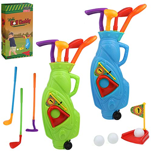 High Bounce Kids Golf Club Set for Kids and Toddlers - 2...