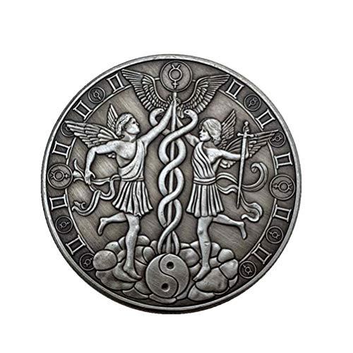PRETYZOOM Constelación Conmemorativa Monedas Gemini Desafío Moneda Recuerdo Colección de Artes Regalo Metal Vintage para Hombres Mujeres Niños Regalo de Cumpleaños