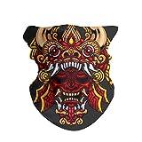 ANTOPM Mistic Mask Hannya Barong Face Mask Bandanas Headband Neck Gaiter Wrap Scarf Mask Neck White