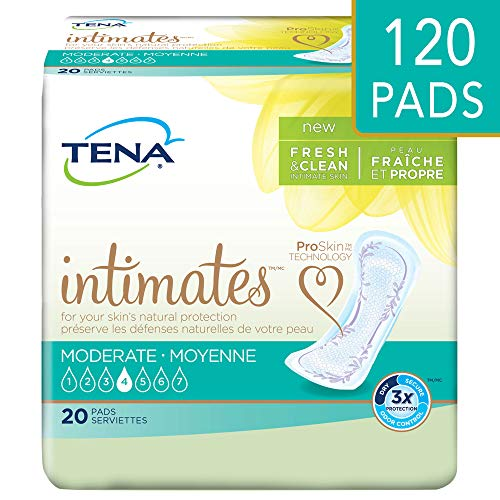 Tena Intimates Incontinence Pads for Women, Moderate, Regular, 120 Count