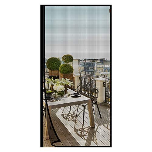 MAGZO Magnet Fliegengitter Tür 110x220cm, Verstärkt Fiberglas Insektenschutz Mückenschutz Tür von der Seite öffnen, für Balkontür Wohnzimmer Schiebetür Terrassentür, Ohne Bohren