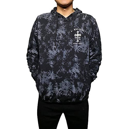 Gochange Men's Fleece Hooded Pullover Sweatshirts Full-Zip Jackets Athletic Outdoor Active Wear F06 L Charcoal