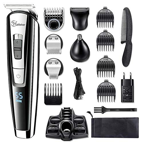 Alles-in-1 Professionele Haartrimmer Waterdichte Tondeuse Baardtrimmer Man Elektrische Haar Snijmachine Set voor Gezichtsbehandeling, Lichaam # 12