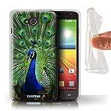 Stuff4 Phone Case for LG L90/D405 Wildlife Animals Peacock
