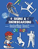 Skiing & Snowboarding coloring book for kids - 25 designs: Ski, landscape and snow to color for boys and girls ages 4-12| 25 beautiful pages to color.