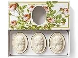 Saponificio Artigianale Fiorentino, handgemachte italienische Rosenseife aus Fiorentino, oval mit...