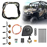 UTV/ATV Turn Signal Kit, kemimoto Universal Street Legal With Toggle Switch and Horn Kit Amber LED Easy Installation Compatible With Pioneer, RZR, Can-Am, Kawasaki
