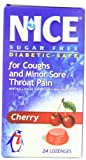 N'ICE Sugar Free Lozenges, Cherry, 24-Count Package (Pack of 6)
