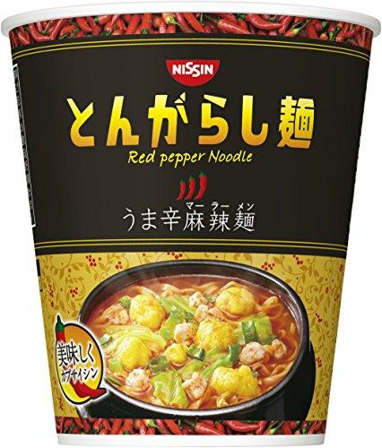 日清のとんがらし麺うま辛麻辣麺63g×12個