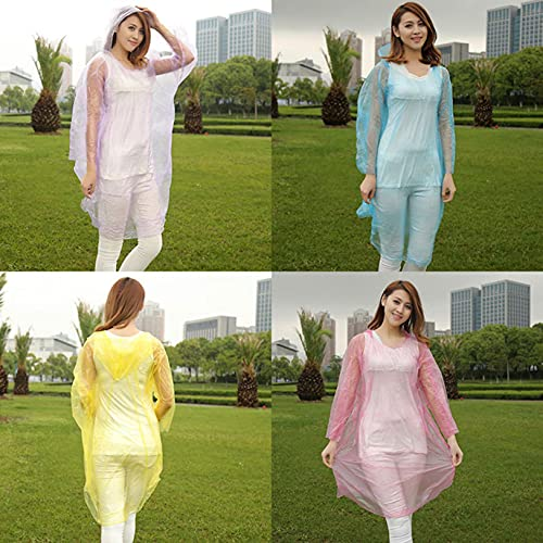 Disposable Raincoats for Adults, Rainstorm Prevention Coat, Portable Outdoor Long Full Body Rainstorm-Proof Disposable Poncho, Lightweight Poncho【Shipping from U.S.】
