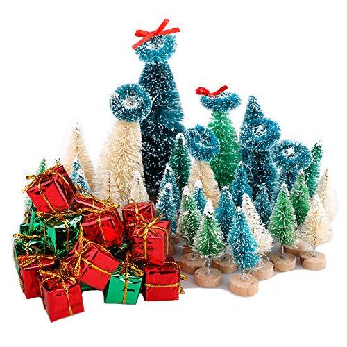 Monnadu ini Juego De árboles De Navidad, Pequeño Pino De Navidad con Bases De Madera, árbol De Navidad En Miniatura para Escritorio, árbol De Navidad, Fiesta De Vacaciones, DEC 3#