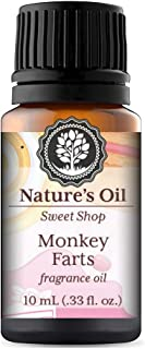 Monkey Farts Fragrance Oil Sweet 10ml for Slime Scents, Diffuser Oils, Making Soap, Candles, Lotion, Home Scents, Linen Spray and Lotion.