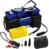 FORUP Dual Cylinder Air Compressor Pump, Heavy Duty Portable Air Pump, 150 PSI, LCD Backlit Digital Display, Auto 12 V...