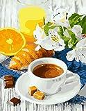 Coloriage par numéros tasse à café bricolage Kits de peinture sur toile décor à la maison peinture par numéro paysage dessin sur toile A11 40x50 cm