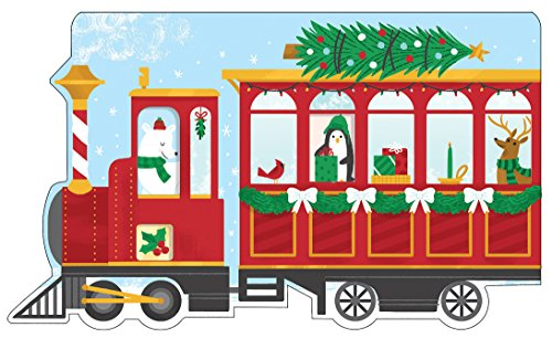 Christmas Train Shaped Cover Sticky Notes (Stickers)