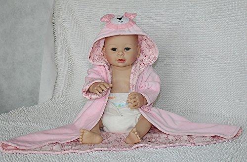 Nicery Reborn Baby Dura del Silicone Reborn Bambola Reborn Bambino 20inch 50 Centimetri Magnetica Bella Realistica Cute Ragazza Rosa Giocattolo Orso Reborn Doll A3IT