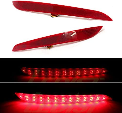 LEDist LED Rear Bumper Reflector RH Set Assembly 2-pc For LH 201 At the Fashion price