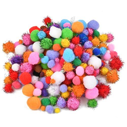 Idealeben 1000 PON PON Colorati, 1-3 cm, Palline Colorate con PON PON, Palline di Peluche per Fai da Te, Artigianato e Decorazioni, Mini Pom Pom per Artigianato Fai-da-Te
