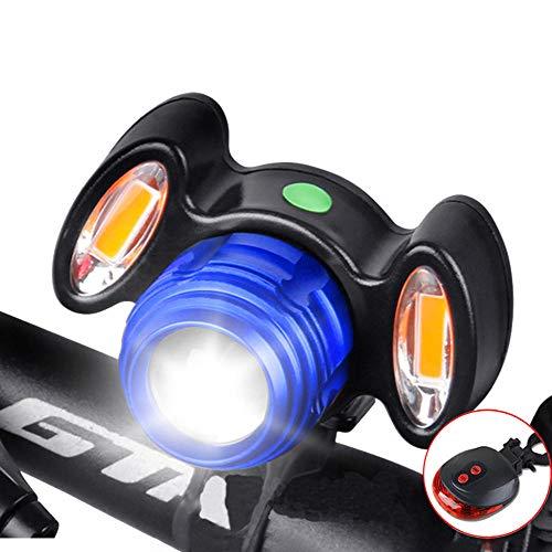 luty USB fietslamp, oplaadbare mountainbike-licht, afstandsbediening, waterdichte focus, fietsaccessoires, blauw