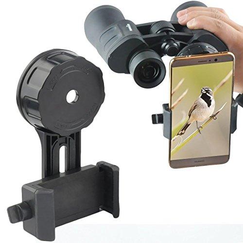 Solomark Universal Telefon Adapter und Mount Stativ-Halterung für Smartphone Sony Samsung Moto - Kamera- Spektiv/Teleskop/Mikroskop/Ferngläser (4 Plastics Adapter)