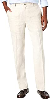 Tasso Elba Mens Mid-Rise Casual Linen Pants