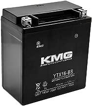 KMG YTX16-BS Battery For Kawasaki 1600 VN1600 Vulcan Mean Streak 2004-2009 Sealed Maintenace Free 12V Battery High Performance SMF OEM Replacement Powersport Motorcycle ATV Snowmobile Watercraft