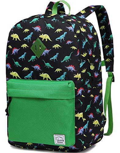 VASCHY Mochilas Infantiles, Mochila de Dinosaurio Niños Mochila para Escolar con Bolsillos Laterales Dinosaurio-Grande