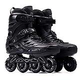 Patines en línea Rodillo Ajustable De Gran Tamaño Profesional 45-46 Patines En Línea Profesional Slalom Deslizamiento Libre De Patinaje For Adultos Zapatos Patinaje sobre Ruedas Protección Completa