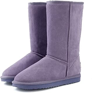 SUQIAOQIAO Genuine Leather Fur Snow Boots Women Top Australia Boots Winter Boots for Women Warm Boots