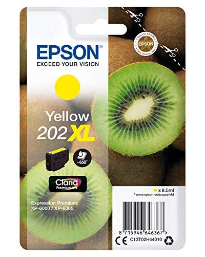 Epson Kiwi Singlepack Yellow 202XL Claria Premium Ink - Cartucho de tinta para impresoras (Original, Tinta a base de pigmentos, Amarillo, Epson, 1 pieza(s), Impresión por inyección de tinta)