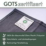 BewusstGrün - 24 𝗡𝗮𝗰𝗵𝗵𝗮𝗹𝘁𝗶𝗴𝗲 𝗦𝘁𝗼𝗳𝗳𝘀𝗲𝗿𝘃𝗶𝗲𝘁𝘁𝗲𝗻 grau I 45x45 cm I 100% Bio-Baumwolle - Aufwertung des Tisches für Anlässe und Alltag - 3