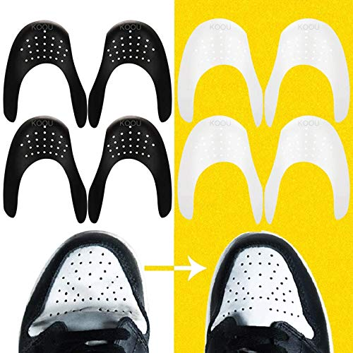 Anti-Wrinkle Shoes Crease Protector Shoe Shield Protector Against Sneaker Creases Toe Box Decreaser Prevent Indentation Sports Shoes Protective for Anti Shoe Creasing Men's 7-12/ Women's 5-8 (4pairs)