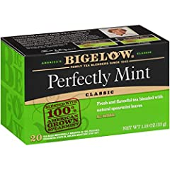 CLEAN & SMOOTH: Bigelow's Perfectly Mint Black Tea is clean & smooth with a refreshing mint finish. The fresh coolness of American grown spearmint brings a clean flavor to invigorate your tastebuds for the perfect start to your day or end to your nig...