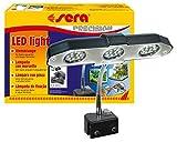 Sera 31138 Lampe LED 3 x 2 W (6 W/12 V) avec réflecteur fin pour éclairage d'aquarium et de terrarium comme par exemple l'aquarium Nano Sera Cube 16 l Argenté