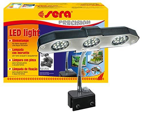 sera 31138 LED light 3 x 2 W eine LED-Lampe (6W / 12V) mit schlankem Reflektor zur Beleuchtung fürs Aquarium und Terrarium wie z.B. das Nano Aquarien sera Cube 16 l, Silber