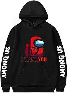 Anime Amoung Us Hooded Sweatshirt Mens Among Us Impostor Graphic Ladies Long Sleeve Hoodies